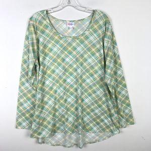 LuLaRoe Lynnae Long Sleeve Plaid Shirt #1298